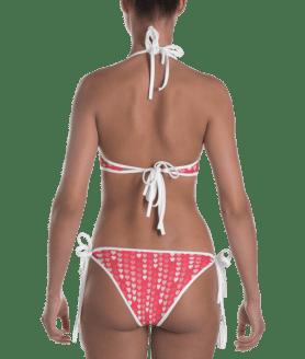 Multicolored Hearts Reversible Bikini - Women's Beachwear Bathing Suit