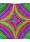 Multicolored Psychedelic Quadratic Print Square Pillow Case only