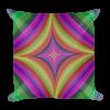 Multicolored Psychedelic Quadratic Print Square Pillow
