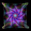 Multicolored Swirl Loop Square Pillow