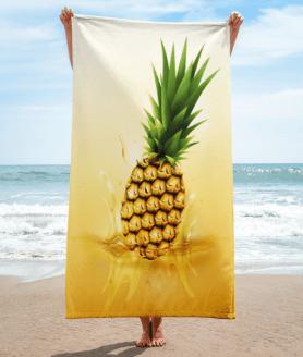 pineapple drop on juice splash and ripple towel