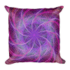 Purple Psychedelic Spiral Web Square Pillow