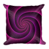 Purple String Spiral Rabbit Hole Square Pillow