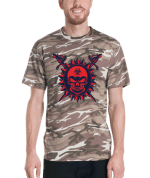 Scary Skull With Swords Short-sleeved camouflage t-shirt