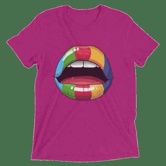 Sexy Rainbow Lips Short sleeve Women's t-shirt