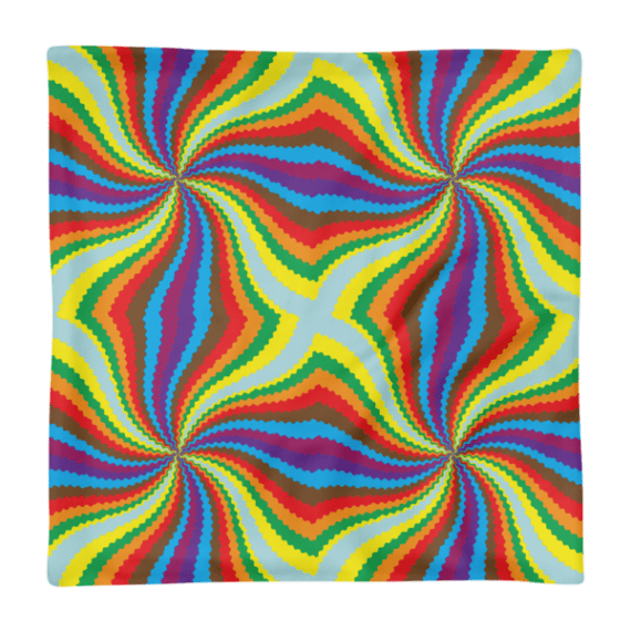 Spinning Colors Print Square Pillow Case only