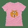 Women's Cute Fox Scoopneck T-Shirt