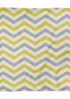 Yellow and Grey Striped Print Square Pillow Case only