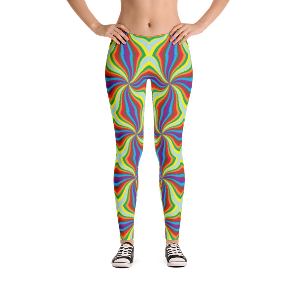 Exclusive Shiny Colorful Psychedelic Rave Leggings