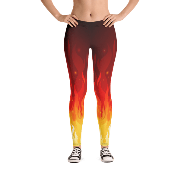Hot Inner Fire Women's Yoga Pants - Best Fire Flames Leggings