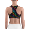 Colorful Dotted Rainbow Sports Bra