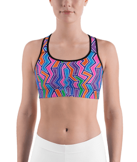 Fashionable Graffiti Sports Bra