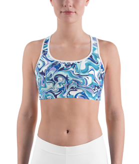 Fashionable Liquid Paint Sports Bra