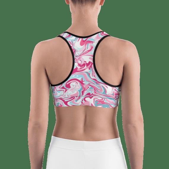 Hot Pink Liquid Paint Sports Bra