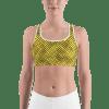 Seamless Golden Pattern Elegant Gym Workout Sports Bra