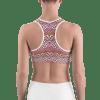 Shiny Geometric Pattern Gym Workout Sports Bra