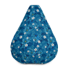 Blue Floral Bean Bag Chair With Filling You'll Love