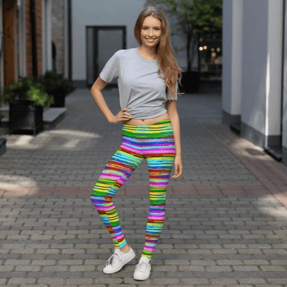Colorful Lulu Striped Leggings