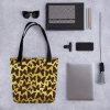 Cute Butterflies on Golden Background Tote bag