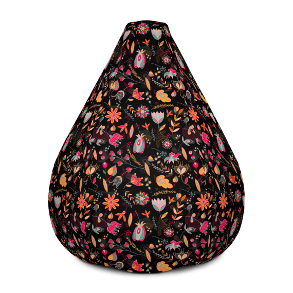 Trendy Modern Floral Bean Bag Chair With Filling