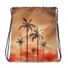 Tropical Landscape with Palm Trees Drawstring bag