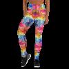 Ultra Soft High Waist Colorful Yoga Leggings - Circus Leggings with stripes - Acrobatics, Yoga, Acroyoga with Pockets