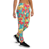 Women's Crazy Fun Psychedelic Marmalade Gym Workout Jogger Pants with Pockets