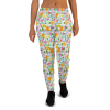 Women's Flowers and Leaves on Stripes Print Joggers