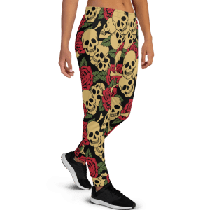 Women's Incredible Sugar Skulls Gym Workout Running Jogger Pants with Pockets