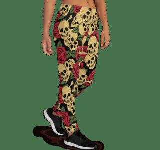 Women's Incredible Sugar Skulls Gym Workout Running Jogger Pants with Pockets