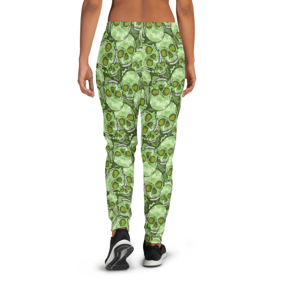 Women's Scary Sugar Skulls Running Joggers with Pockets, (XS-3XL) Relaxed Fit
