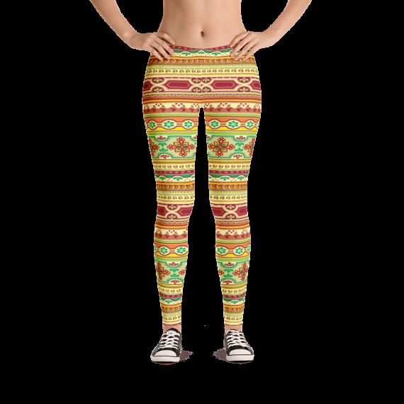 Best Classic European Pattern Print Leggings - Best Custom Printed Yoga Pants