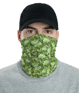 New Protective Camouflage Skull Face Mask, Neck Gaiter, Headwear , Scarf-Bandana