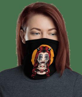 New Protective Devil Girl Face Mask, Neck Gaiter, Headwear , Scarf, Bandana