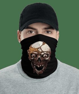 New Protective Zombie Skull Face Mask, Neck Gaiter, Headwear , Scarf, Bandana