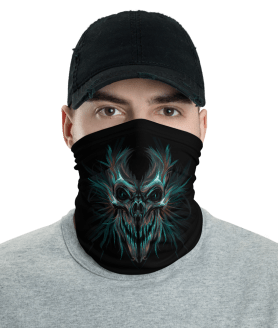 New Scary Skull Protective Face Mask, Bandanna, Scarf, Neck Gaiter, Headwear, Headband Hair Cover, Mouth Cover, Nose Cover, Scarves