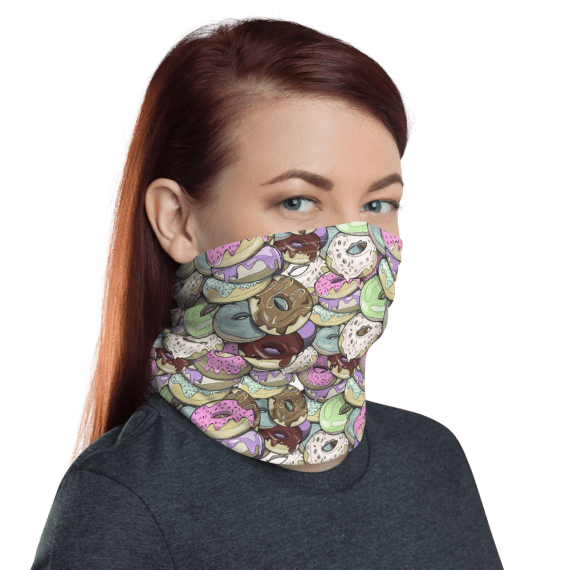 New Yummy Yum Donuts Protective Face Mask, Bandanna, Scarf, Neck Gaiter, Headwear, Headband Hair Cover, Mouth Cover, Nose Cover, Scarves