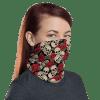 Protective Roses and Skulls Face Mask, Neck Gaiter, Headwear , Scarf, Bandana