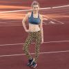 Python Snake Skin Patterned Leggings - Snake Skin Print Yoga Pants