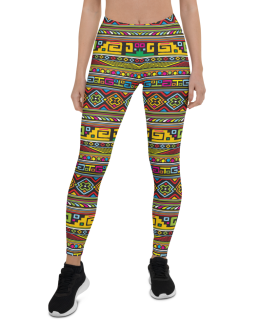 Shake It Off Yoga Pants - Colorful Shake it Out Pants, Shake Your Pants Leggings