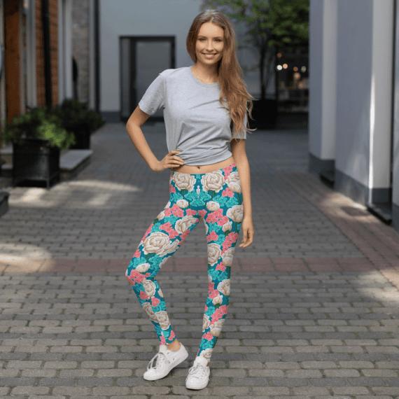 Stylish Floral Tights Leggings - Best Stylish Flowers Leggings Online