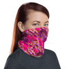 Washable & Reusable Pink Graffiti Protective Face Mask, Bandanna, Scarf, Neck Gaiter, Headwear, Headband Hair Cover, Mouth Cover, Nose Cover, Scarves