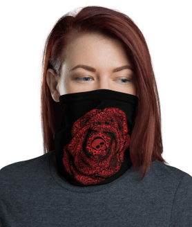 Washable & Reusable Rose Of Death Protective Face Mask, Bandanna, Scarf, Neck Gaiter, Headwear, Headband Hair Cover, Mouth Cover, Nose Cover, Scarves