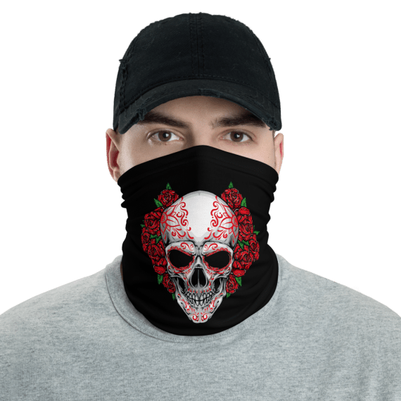 Washable & Reusable Scary Spooky Joker Skull Face Mask, Bandanna, Scarf, Neck Gaiter, Headwear, Headband Hair Cover, Mouth Cover, Nose Cover, Scarves