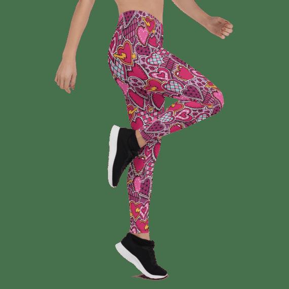 Women's Ultra Soft Hearts Printed Leggings - New Classic Fashion Print Leggings