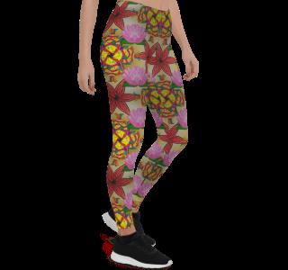Yoga Pants Lotus Flower - My Number One Lotus Flowers Leggings