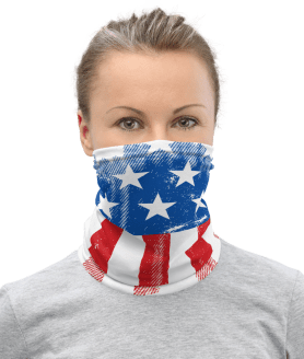 Best American Flag Washable Face Mask, USA Flag Breathable Reusable Mask, Neck Gaiter