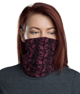 **High Quality** Scary Skulls Face Mask ~Soft, Comfortable, Reusable Mouth Cover, Neck Gaiter