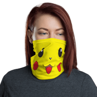 New Funny Protective Pikachu Pokemon Face Mask, Cute Anime Cartoon Face Mask, Neck Gaiter