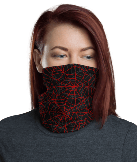 New **High Quality** Halloween Spiders Web Face Mask ~ Soft, Reusable Face Masks, Neck Gaiter